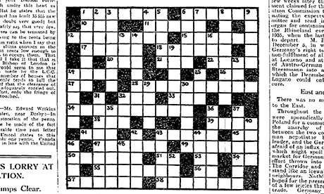 crossword puzzle newspaper terms