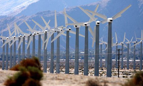 A windfarm near Palm Springs, California