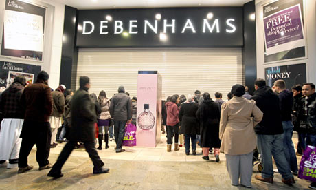 Retailers report strongest sales for three years while Debenhams trips up