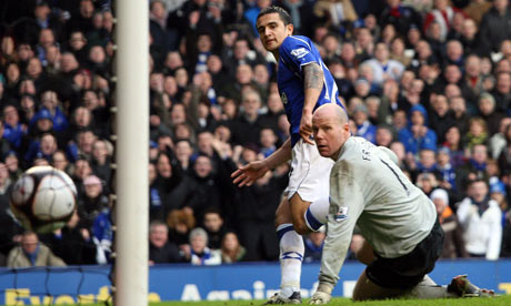 Tim Cahill - Everton v Aston Villa - FA Cup 5th Round