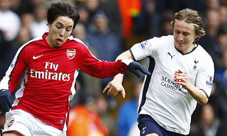 Modric Nasri Spurs Arsenal