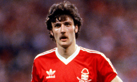 Garry Birtles in actions for Nottingham Forest during their 1979 European Cup campaign.