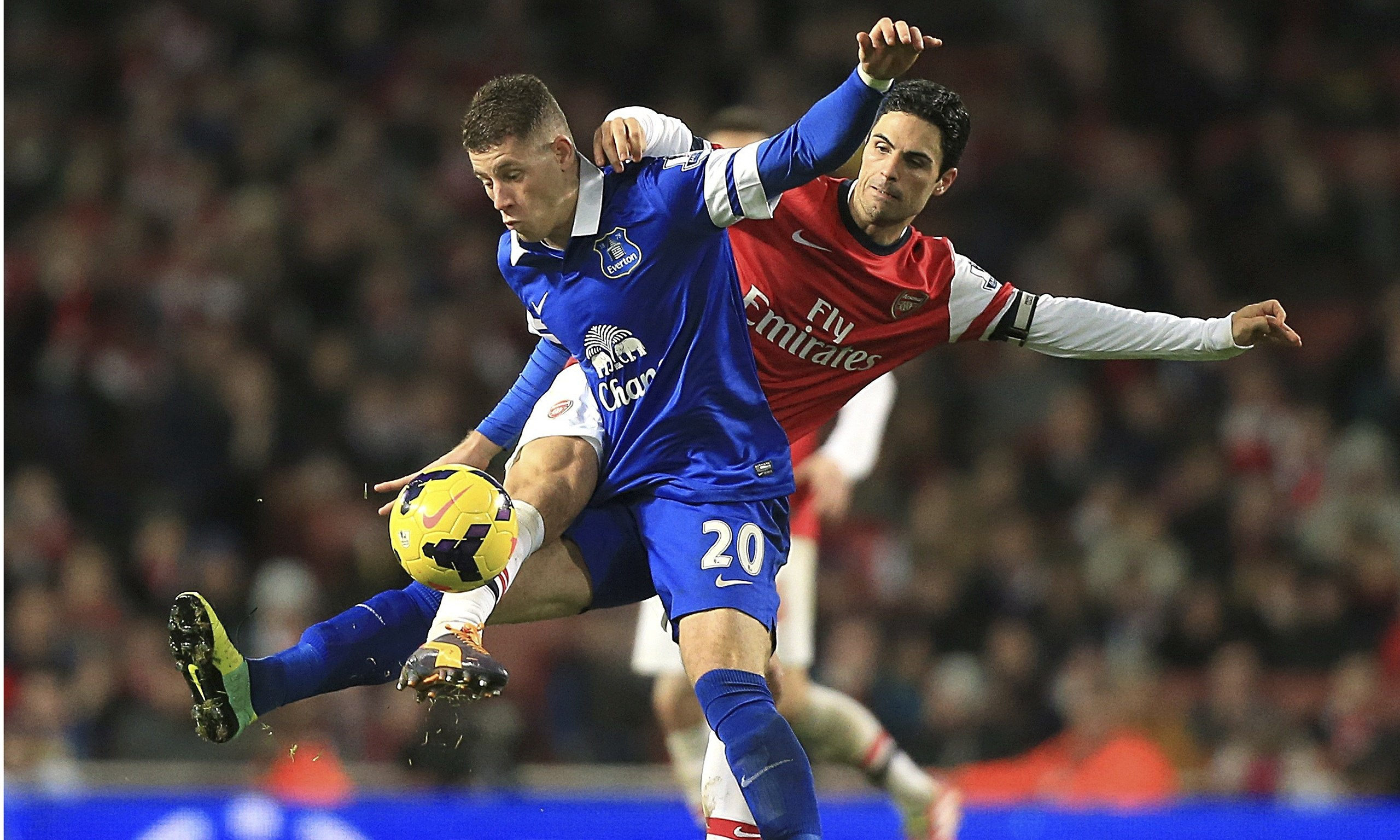 Everton's Ross Barkley vs Arsenal's Mikel Arteta