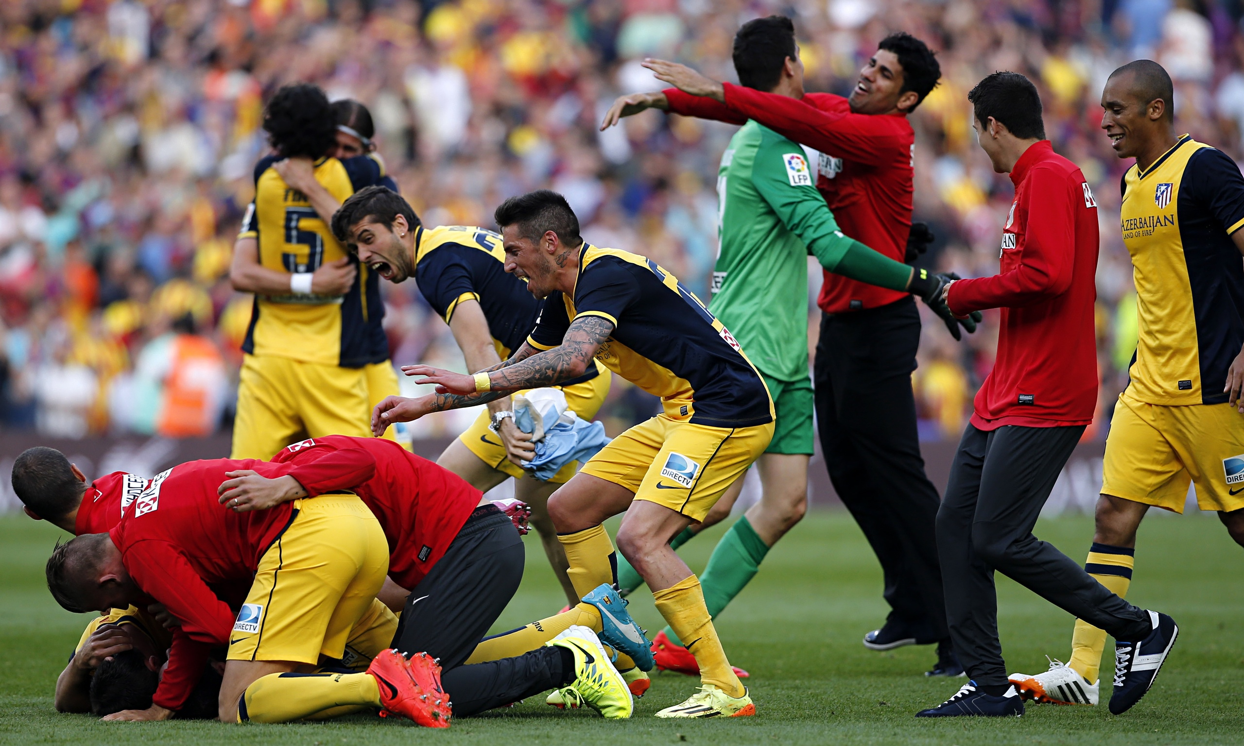 La Liga: Atlético Madrid Celebrate La Liga Title After Draw At