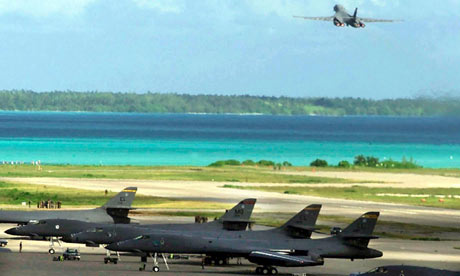 US diplomats are said to have also lobbied for permission to use US bases on British territory such as Diego Garcia. Photograph: AFP