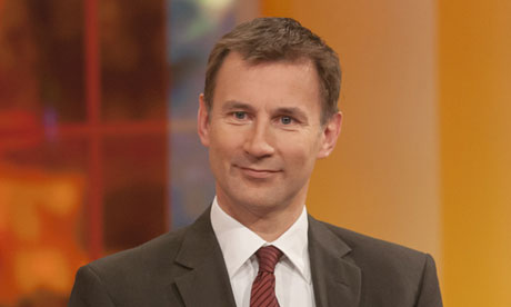 Hospital tackle … Jeremy Hunt on ITV's Daybreak last month. Photograph: Steve Meddle/Rex Features