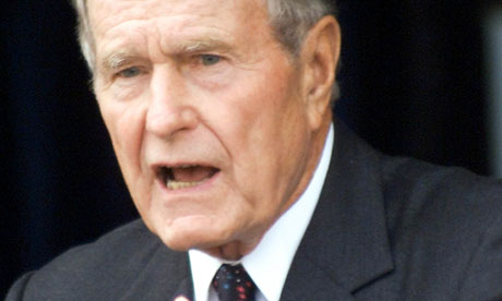 George Bush Sr In Intensive Care Unit Us News The Guardian