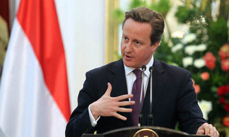 "David Cameron hailed the Burmese opposition leader Aung San Suu Kyi as ""inspirational"". Photograph: Adi Weda/EPA"