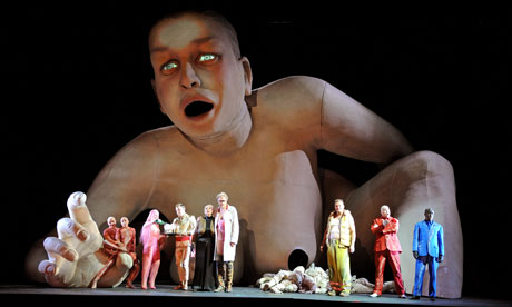 A scene from English National Opera's 2009 production of György Ligeti's Le Grand Macabre. Photograph: Tristram Kenton for the Guardian