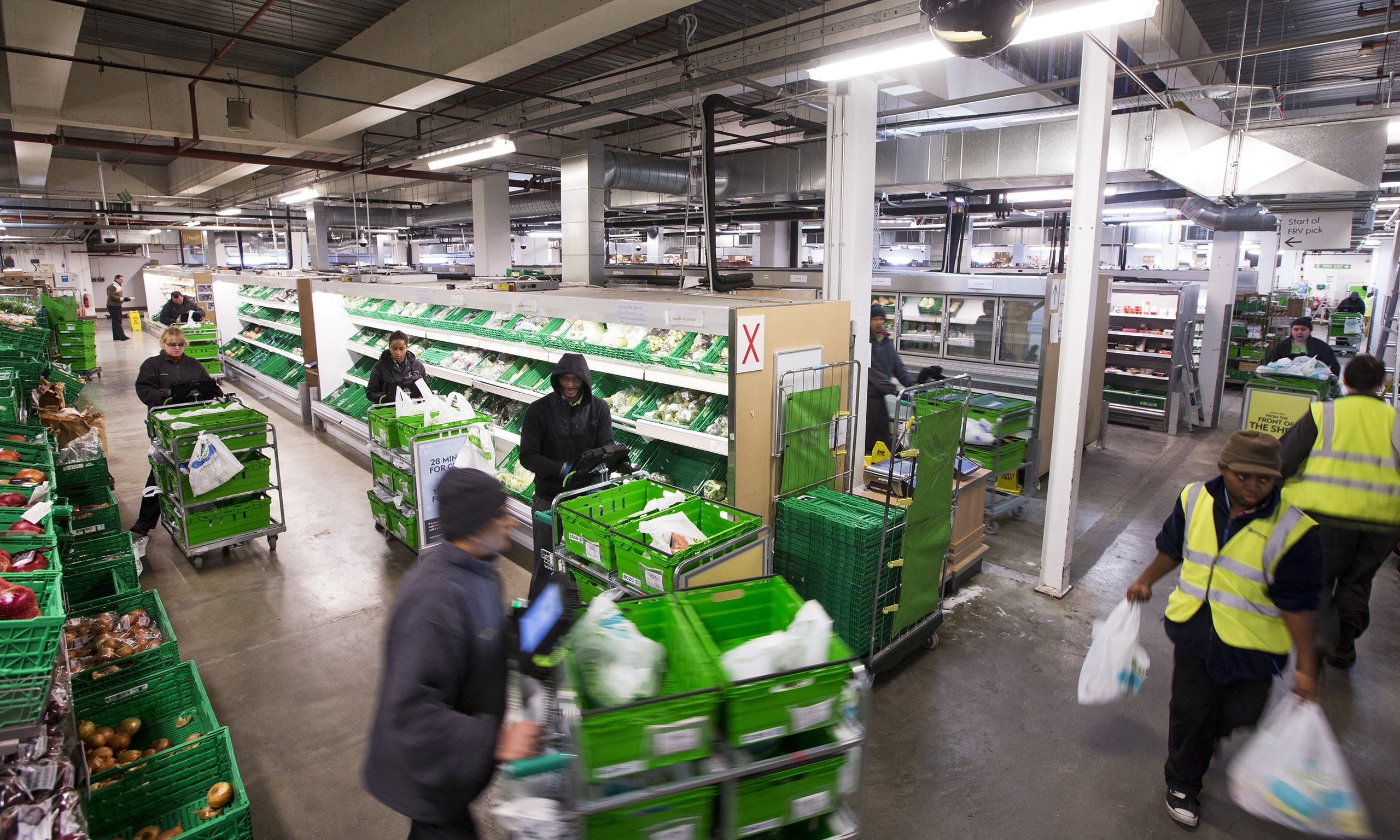 inside the supermarkets 39 dark stores business the guardian. Black Bedroom Furniture Sets. Home Design Ideas