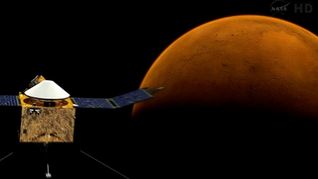 Nasa prepares to send Maven spacecraft to Mars - video ...