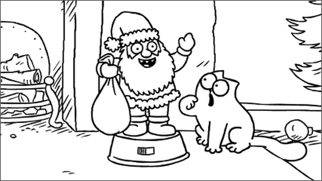 simon cat free coloring pages - photo#6