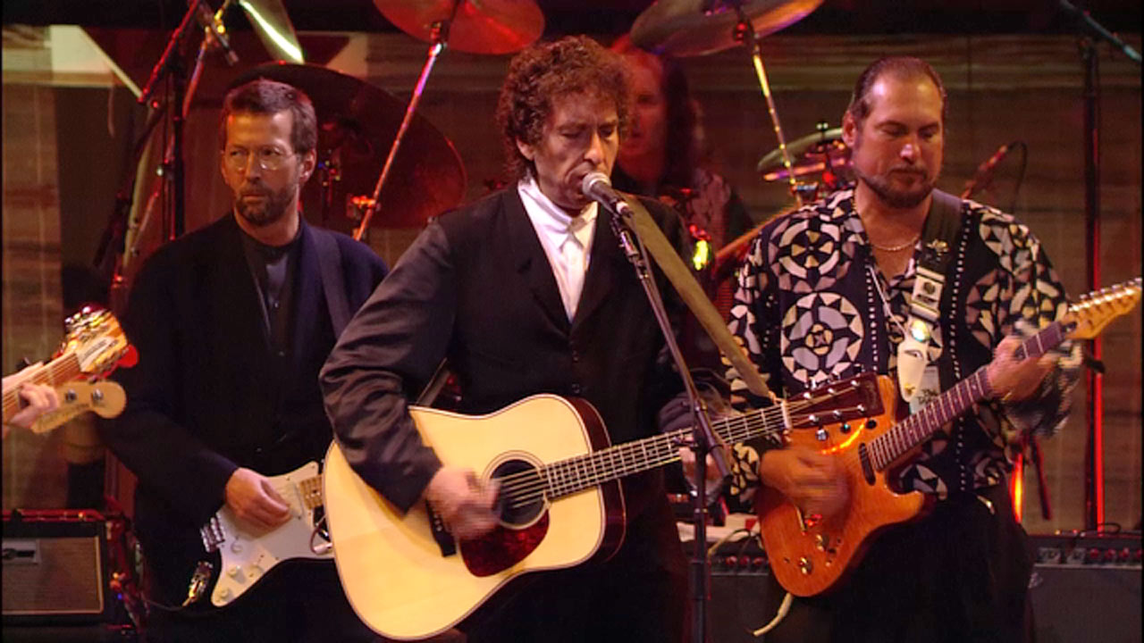 bob dylan performs my back pages at his 30th anniversary concert video music the guardian. Black Bedroom Furniture Sets. Home Design Ideas