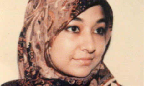 Dr Aafia Siddiqui as a student in a photo provided by her family. Photograph: Declan Walsh/Collect
