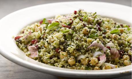 The new vegetarian: Saffron couscous, chickpea and lentil salad ...