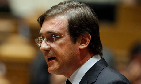Pedro Passos Coelho, the Portuguese prime minister. Photograph: Miguel A Lopes/EPA