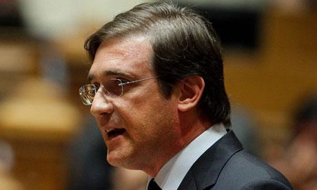 Pedro Passos Coelho, the Portuguese prime minister. Photograph: Miguel A Lopes/EPA