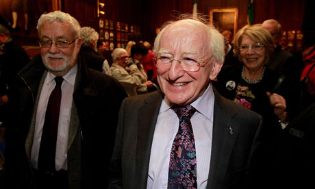 Michael D Higgins, of the Irish Labour party, is set to be confirmed as Ireland's ninth president. Photograph: Julien Behal/PA