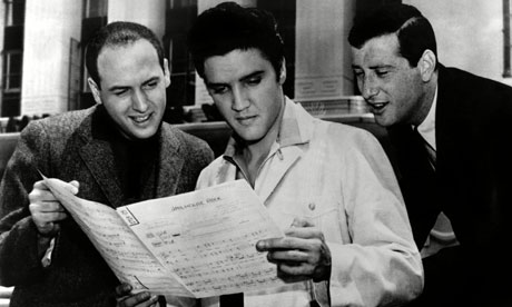 Jerry Leiber, Elvis Presley, and Mike Stoller
