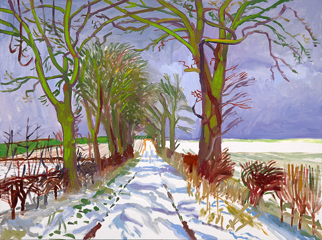 """<strong>David Hockney, London</strong><br/> This show of mostly recent landscape paintings sees Hockney transform his native Yorkshire's fields, woods and country lanes into vivid panoramas. Above, Winter Tunnel with Snow, March, 2006. A Bigger Picture is at <a href=""""http://www.royalacademy.org.uk/exhibitions/hockney/"""">Royal Academy of Arts</a>, W1, until 9 April 2012"""