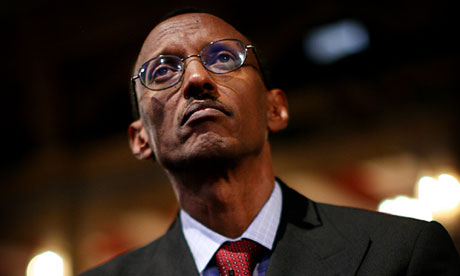 Paul Kagame, the president of Rwanda. Photograph: Graeme Robertson for the Guardian
