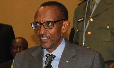 A UN report said a close ally of the Rwandan president, Paul Kagame (pictured), was commanding rebels in the DRC. Photograph: Isaac Kasamani/AFP/Getty Images