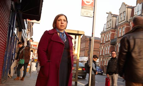 Lib Dem MP Sarah Teather in her Brent Central constituency in Willesden, north-west London.  Photograph: Andy Hall For The Observer