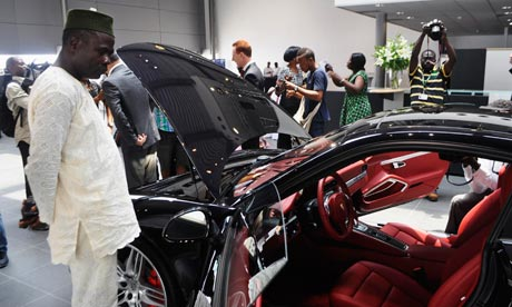 Porsche has opened a new car dealership in the heart of Lagos' wealthiest district, Victoria Island.  Photograph: Reuters