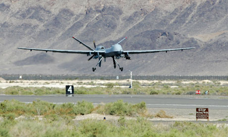 A conventionally powered MQ-9 Reaper drone, which has a flight time of 14 hours when loaded, could fly far longer with nuclear energy. Photograph: Ethan Miller/Getty