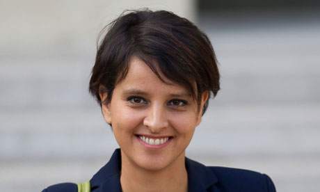 Najat Vallaud-Belkacem who is seeking talks with Theresa May on tackling prostitution and human trafficking. Photograph: Ian Langsdon/EPA
