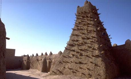 A minaret in Timbuktu, Mali. Photograph: UN photo/Evan Schneider/EPA