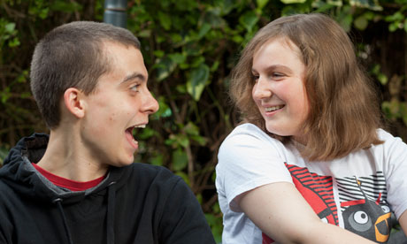 Ryan Lewns, 14, and his sister Rachel, 12. Both have autism spectrum disorders but Rachel had to wait far longer for a diagnosis. Photograph: Sam Frost for the Guardian
