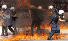 Thumbnail for Greek general strike turns violent - in pictures