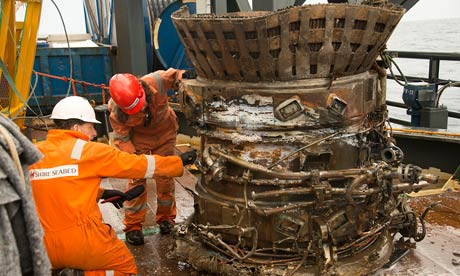 Saturn V rocket engines recovered from seabed