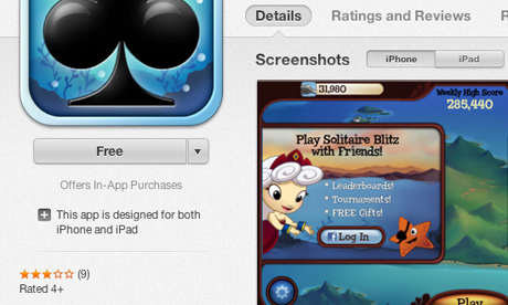 Apple adds 'Offers In-App Purchases' App Store warning to freemium apps