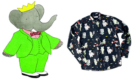 Dapper Babar the elephant finally becomes a fashion icon - aged 80