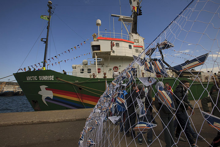 Greenpeace's Arctic Sunrise goes on tour in support of sustainable fishermen - in pictures