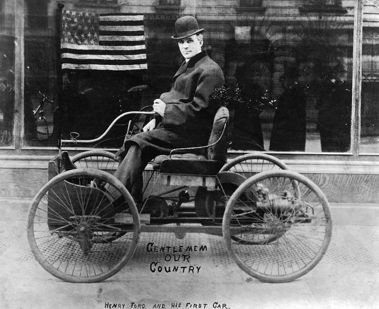 Henry Ford in his first car - a picture from the past - Dewitt ...