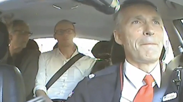 Norwegian prime minister Jens Stoltenberg moonlights as a taxi driver - video  | World news | theguardian.com