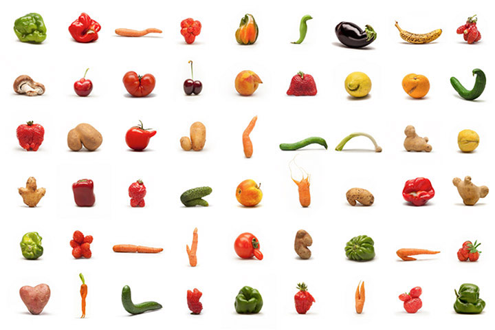 Misshapen fruit and vegetables: a growing trend? - in pictures