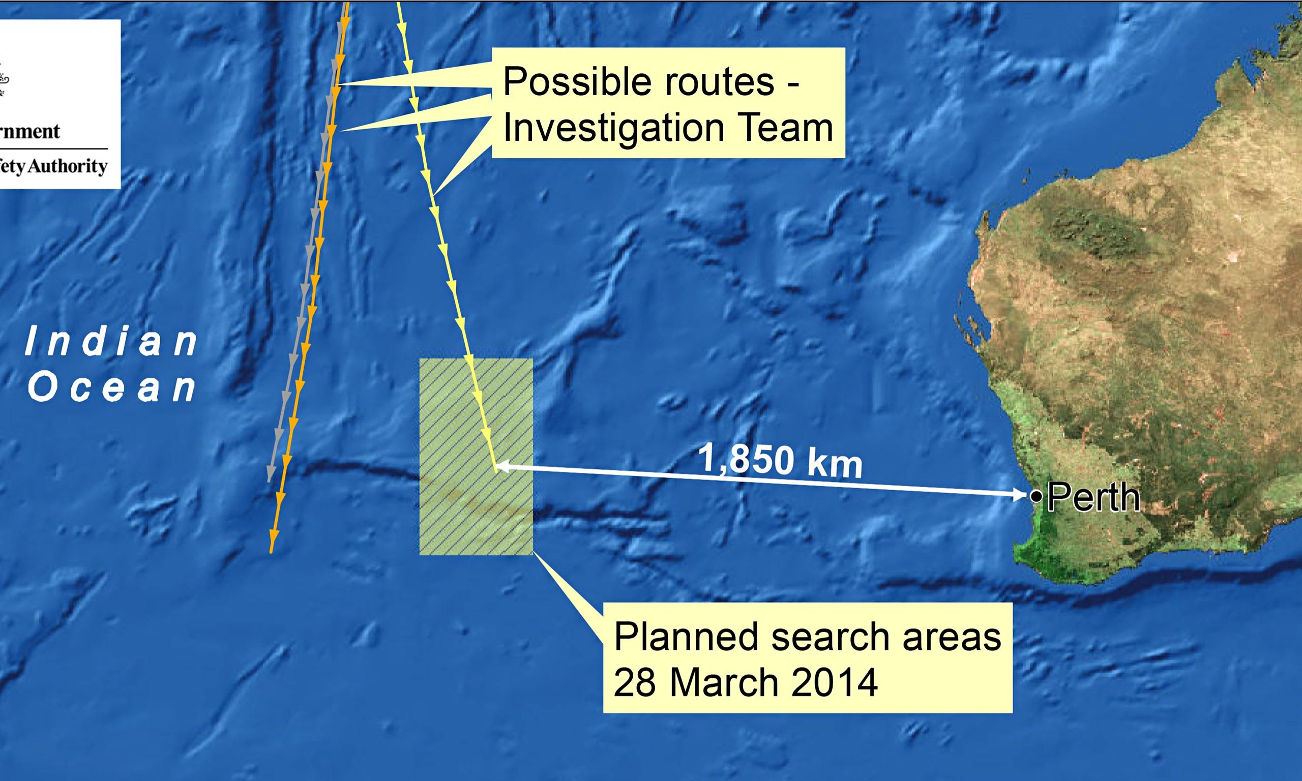 Mh370 search area