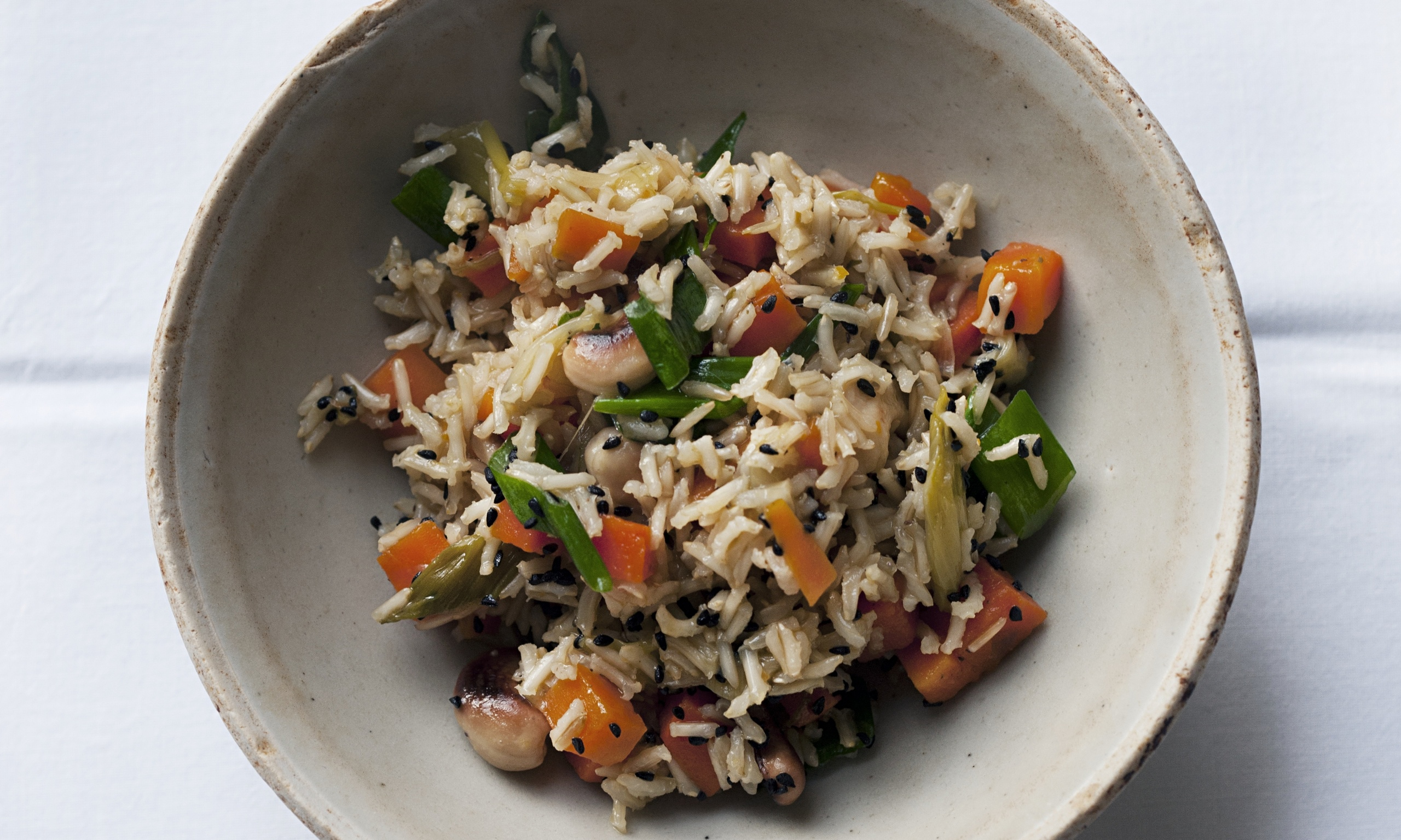 Nigel Slater's brown rice, carrot and cashew pilau recipe