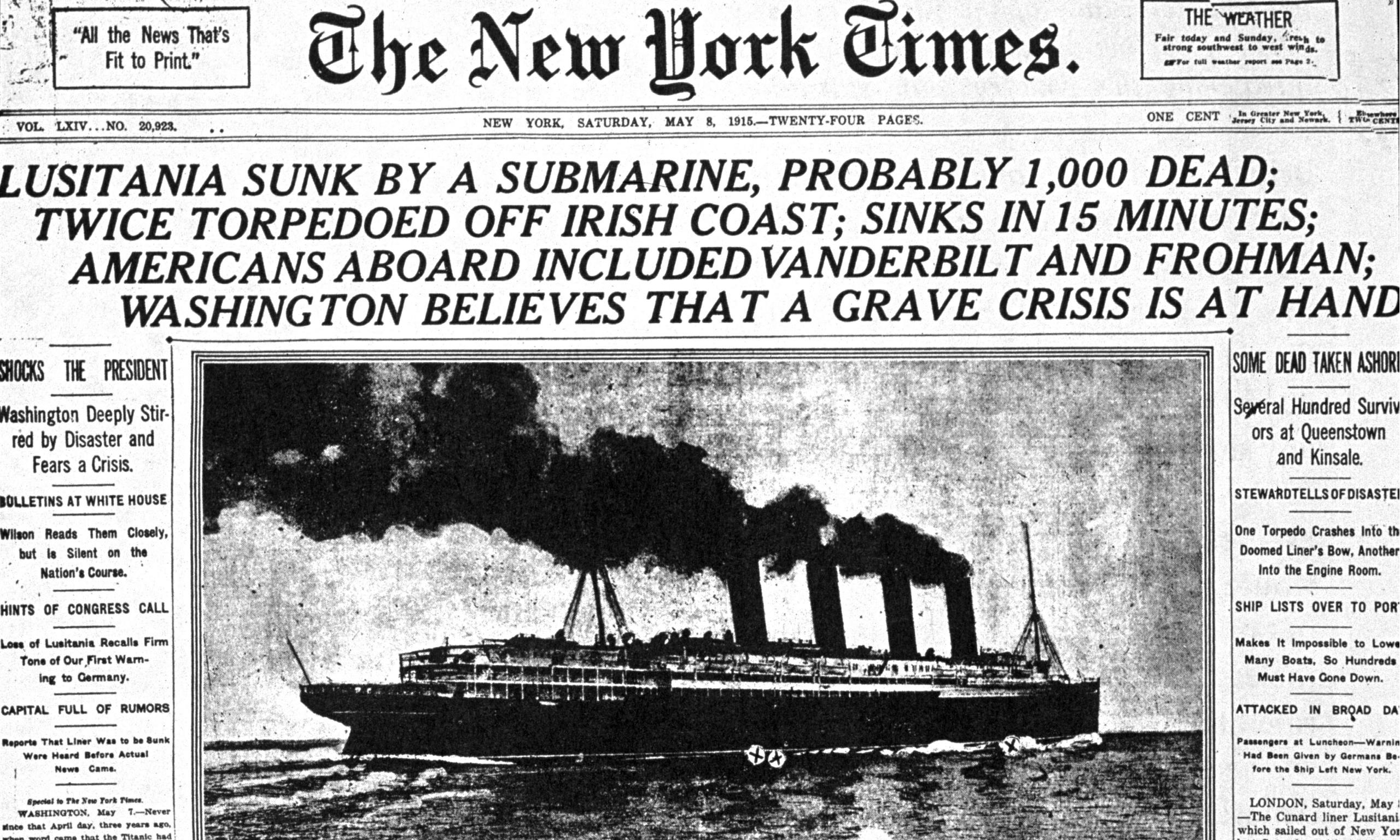 article about lusitania
