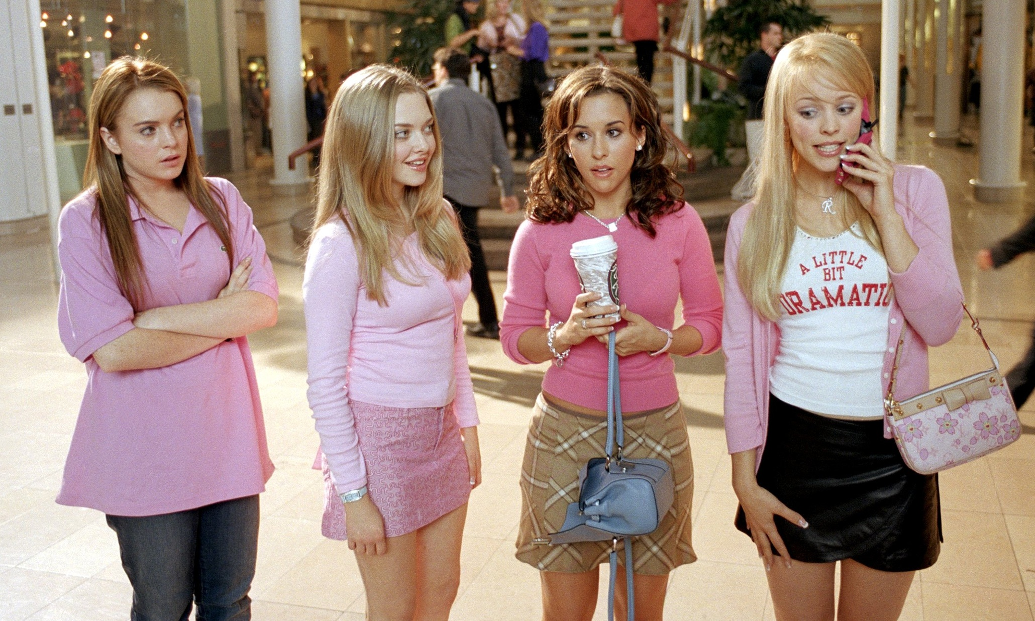 The Plastics from Mean Girls would obviously be in netball teams with pink kit.
