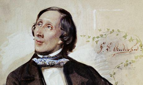 A portrait of Hans Christian Andersen by Karl Hartmann.