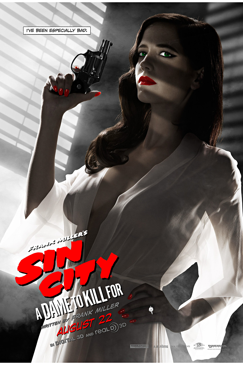 sin city sequel poster with eva green deemed too risqué by us censor