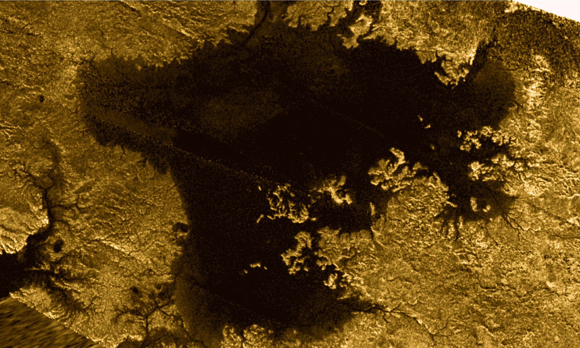 Mystery object in lake on Saturn's moon Titan intrigues scientists
