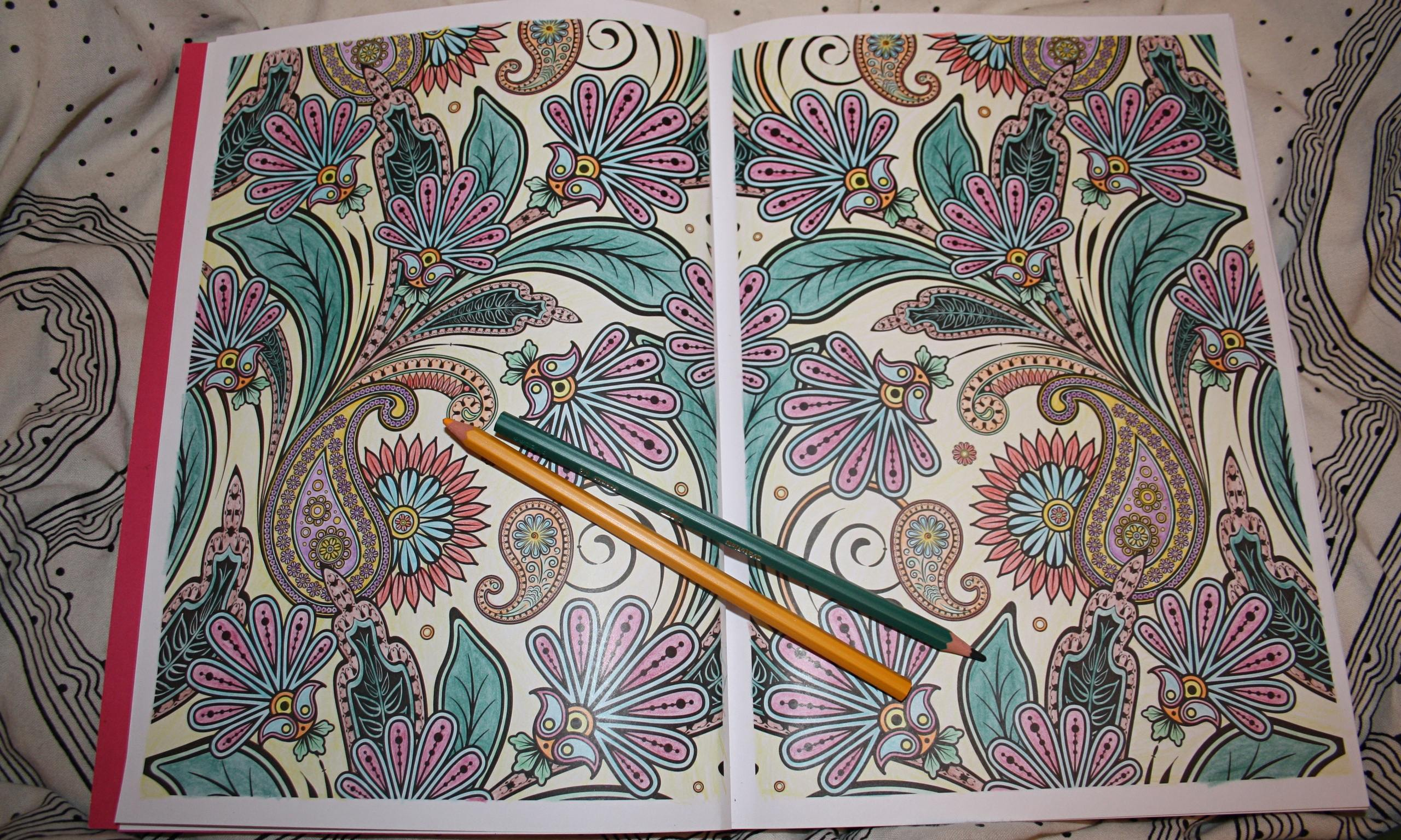 Art Therapy Coloring Book Us Colored Pencils Page Sandy Allnock Colour An Anti Stress Colouring A Review