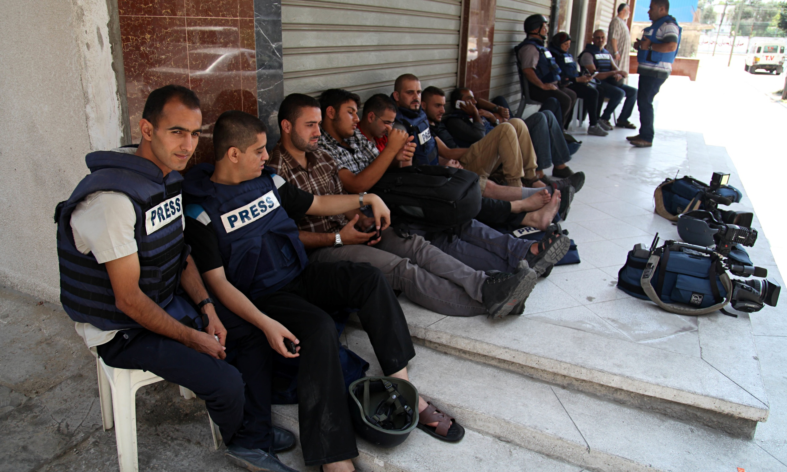 Al-Jazeera Gaza offices evacuated after direct hit by ...