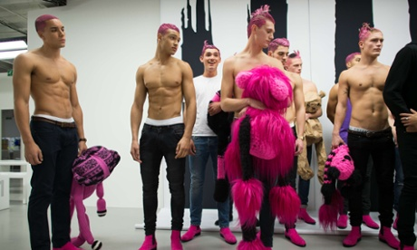 From pink hair to Lego beards, hair from London Collections: Men - in pictures